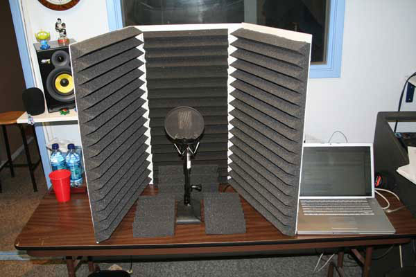 Voice Over Digital Recording Acoustic Foam Baffles Vocal Booth