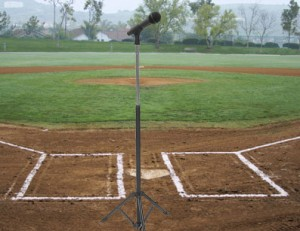 baseball field and mic