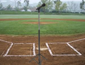 baseball field and mic